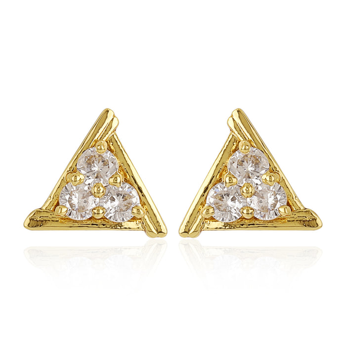 AD stones With Triangle Shaped Earrings