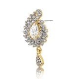 Drop Earring With White AD Stones