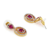 Diamond & Ruby Earrings Set