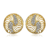 Gold And Silver Tone Plated AD Stone Earring For Women