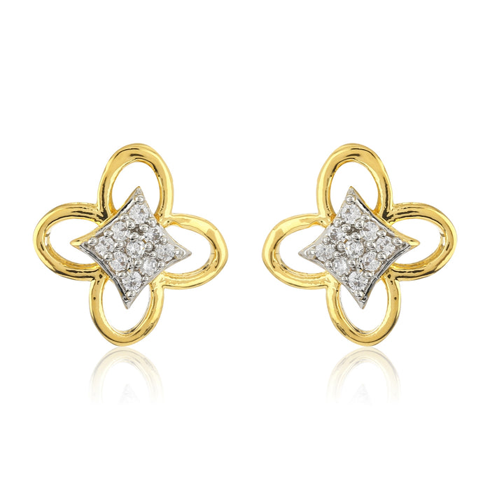 Estele Gold Plated American Butterfly Stud Earrings for Girls