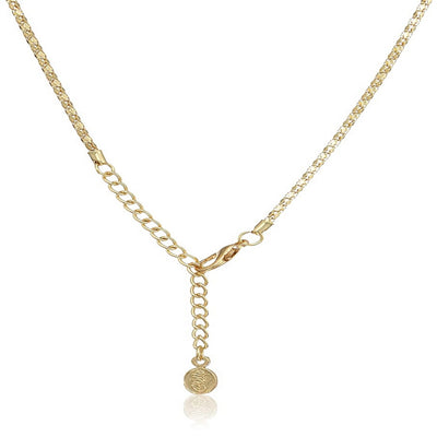 Estele - 24 KT gold plated pendant set with American Diamonds and Ruby Stones for Women