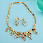 Stylish Gold and Silver plated Eternal Garden Necklace