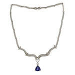 INDIGO TRILLIUM NECKLACE BY SWAROVSKI ELEMENTS