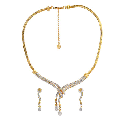 Stylish Gold and silver plated Classic Medley Necklace