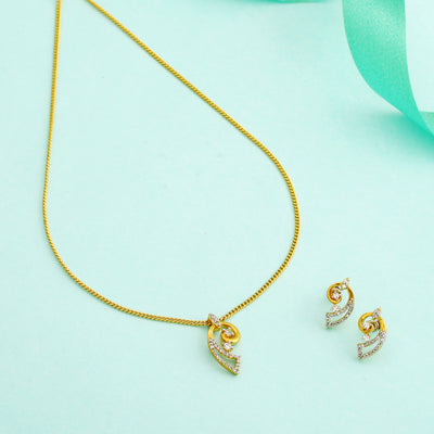 Stylish Gold and Silver plated Designer Conch Necklace