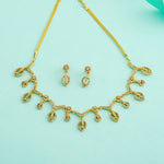 Modern Gold plated American Diamond CZ Full tide Necklace