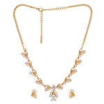 Modern Gold plated American Diamond CZ Bow tie continuity Necklace