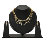 Stylish Gold and silver plated Dancing Light necklace