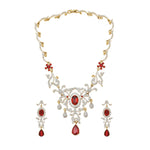 Charming Gold and silver plated Royal Ruby Necklace