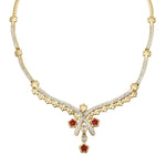 Charming Gold and silver plated Spring Love Necklace