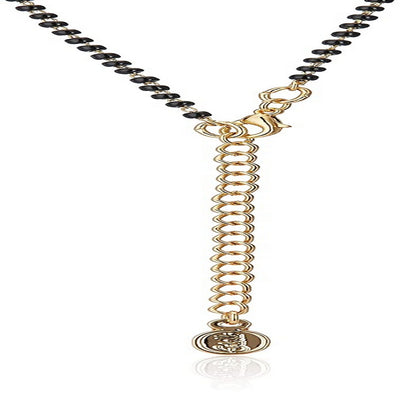 Estele 24 Kt Gold and Silver Plated Simple Single line Mangalsutra Necklaces