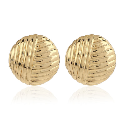 Gold Tone & Enamel Textured Studs Combo