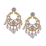 Kundan And Pearls Traditional Earring