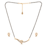 Estele 24 Kt Gold Wrapped Mangalsutra Necklace Set