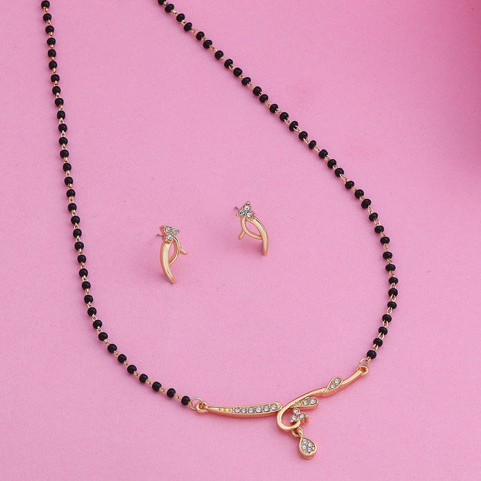 Estele 24 Kt Gold Plated Heavenly Mangalsutra Necklace Set