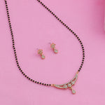 Estele 24 Kt Gold Plated Three Star Mangalsutra Necklace Set