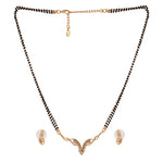 Estele 24 Kt Gold Plated Valley Mangalsutra Necklace Set