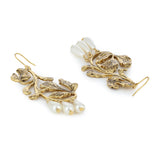 Leafy Pearl Earrings