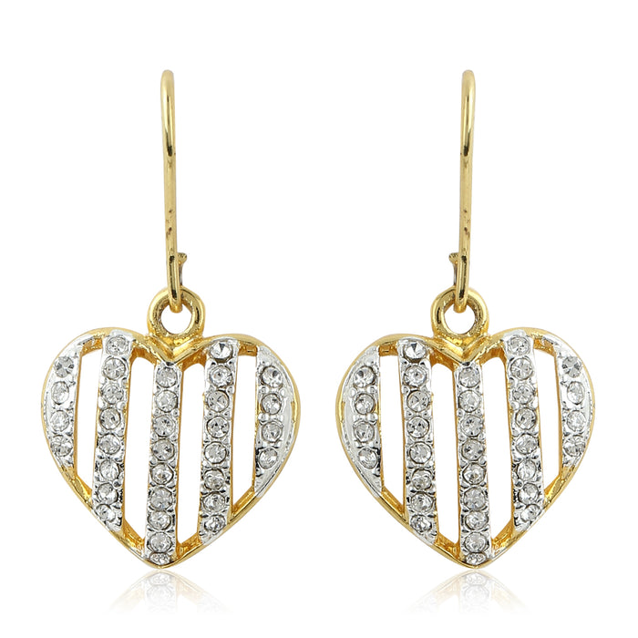 Diamante Heart Earrings