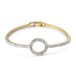 Estele  gold plated Diamante Bracelet for women