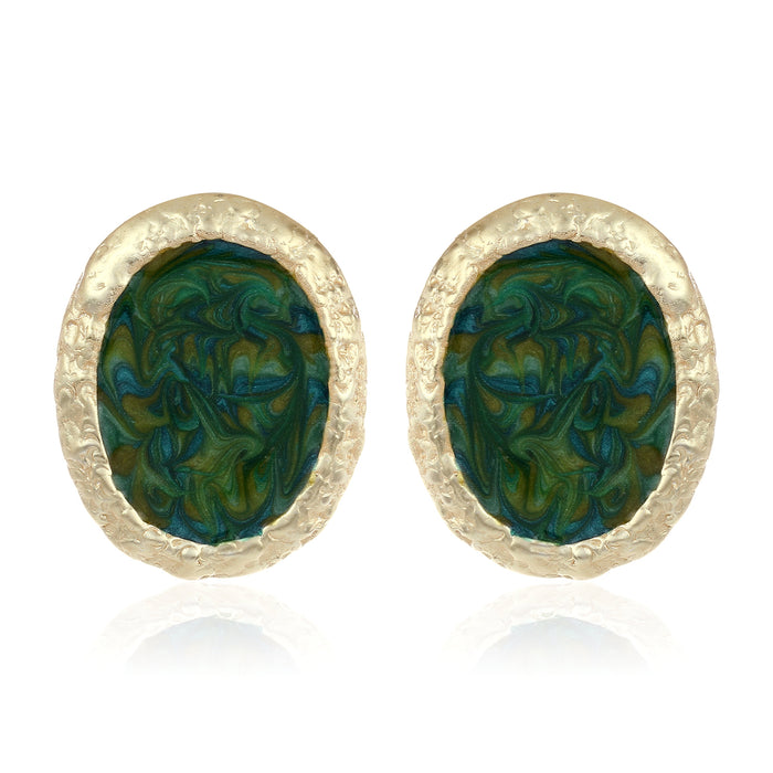 ANTIQUE GREEN STUDS
