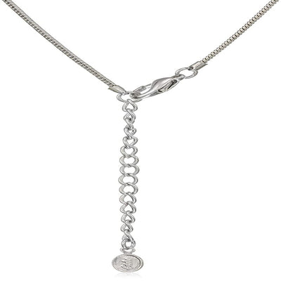 Estele Rhodium Plated with Pearl Drop and Austrian Crystal Necklace Set for Women