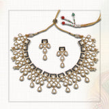 Gold Plated Kundan Polki Jewelry / Necklace Set