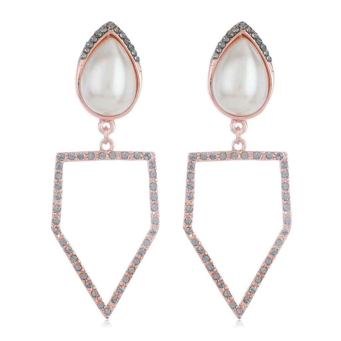 Rose Gold Peak Earrings