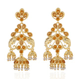 Stylish Fancy Party Wear Kundan Earrings