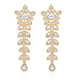 Traditional Gold Plated Fancy Kundan Long Earrings