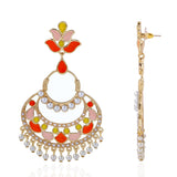 Multi Colour Enamel  Chandbali Earrings