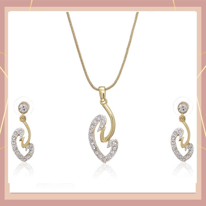 Estele 24 Kt Gold Plated Necklace Set for Women