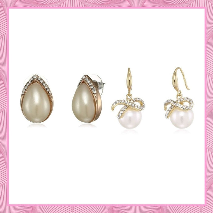 Estele Valentines Day Gifts For Girlfriend Pearls Combo Earrings For Women