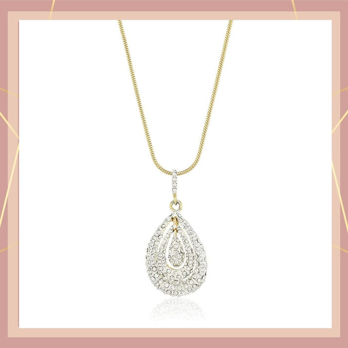 Estele Gold and Silver Plated with American Diamond designer pendant for women