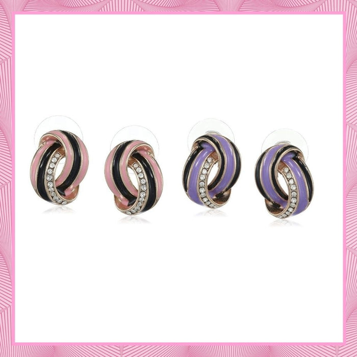 Estele Earrings Jewellery Gifts For Valentines Day (VOILET & PINK)