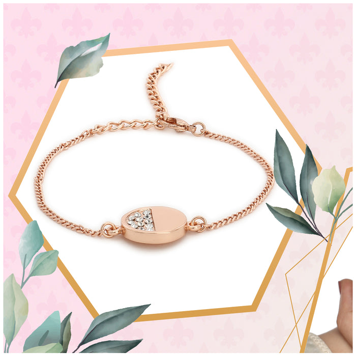 Rose Gold Bracelet Using Swarovski Stones