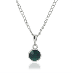 ESTELE EMERALD SWAROVSKI BIRTHSTONE PENDANT NECKLACE FOR WOMEN