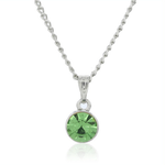 ESTELE PERIDOT SWAROVSKI BIRTHSTONE PENDANT NECKLACE FOR WOMEN