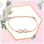 Infinity Rose gold Bracelet Using Swarovski Stones