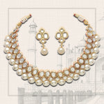 Estele POLKI COLLECTION Off white Gold-Plated Necklace set