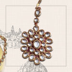 Traditional Gold plated Kundan Maang Tikka for Women