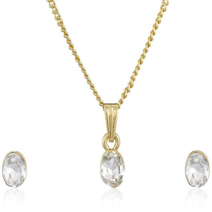 Estele Gold Plated Wedding Jewellery Necklace Set For Girls & Women