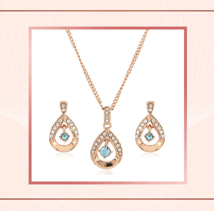 Rose Gold Pendant Chain Necklace For Girls And Women