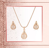 Rose Gold Crystal pendant Necklace For Girls And Women