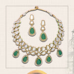 Traditional Polki Stone Gold Plated Jewellery Set