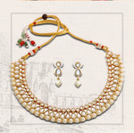 Designer Kundan & Pearl Gold Plated Jewellery Necklace Set for Women/Girls
