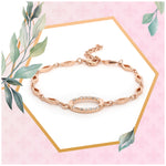 Opal Rose Gold Bracelet Using Swarovski Stones