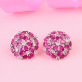 Luxor Ruby Diamond Studs Earrings