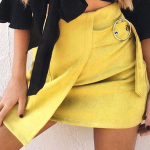 Suede Wrap Around Skirt